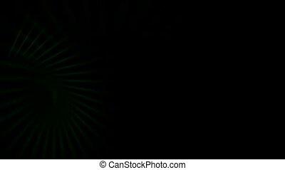 green motion light in dark background