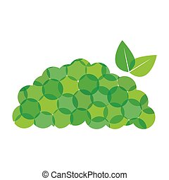 Green mountain leaves icon design