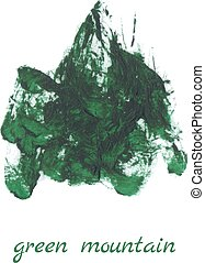 green mountain vector