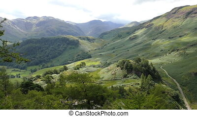 Green mountains of Lake District