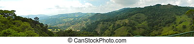 green mountains panoramic view at monteverde
