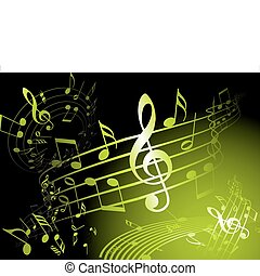Green music theme