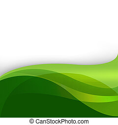 Green Nature Abstract Background With Lines, Vector Illustration