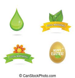 green nature and magic elegance symbols