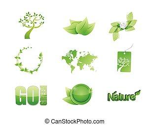 green nature concept icon set