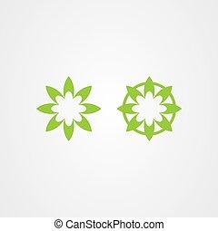 Green nature icon logo design