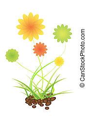Green nature leaf concept