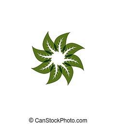 Green nature logo vector template