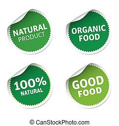 Green nature stickers