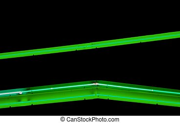 Green Neon Abstract