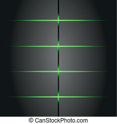 green neon lights banner