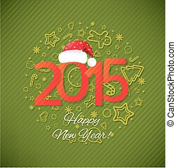 Green New Year Card
