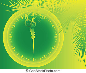 green New Year's background