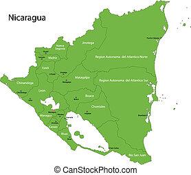 Green Nicaragua map