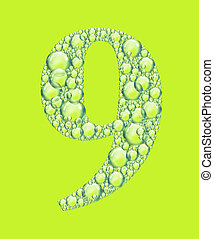 green nine bubbles