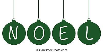 Green Noel Oraments