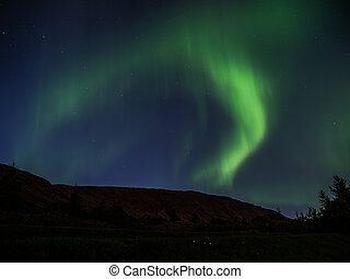 Green northern light