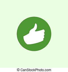 green ok hand icon