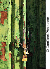 Green Old Door