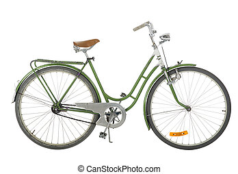 Green Old fashioned bicycle