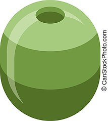 Green olive icon, isometric style