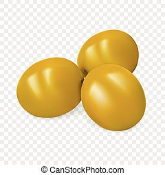 Green olives icon, realistic style