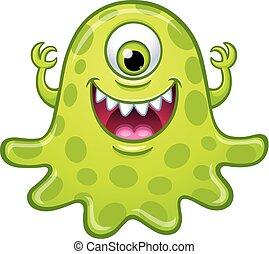 Green One Eyed Monster