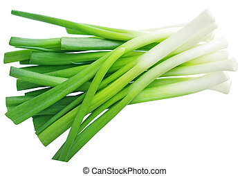 Green Onion - Bundle of green onion isolated on white