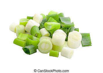 Green onion leaf vegetable fresh
