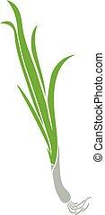green onion vector icon