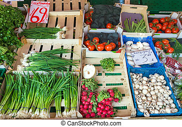 Green onions and other vegetables