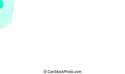 green opaque liquid fills up screen, isolated on white full...