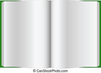 Green opened hardcover book