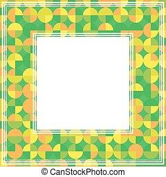 green orange abstract border