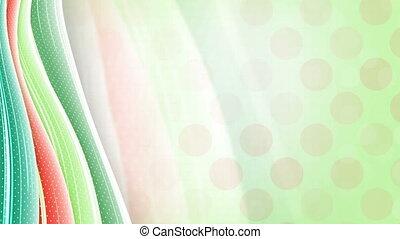 green orange abstract wavy back