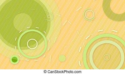 green orange circles and lines loop
