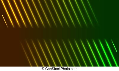 Green orange neon laser rays video animation