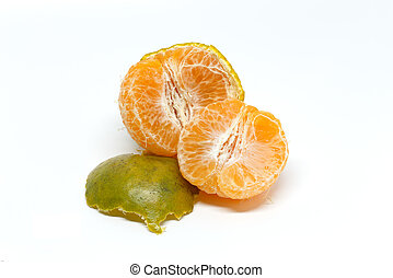 Green, orange peel