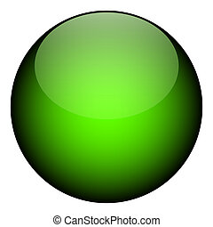 A green orb - it works as a great planet, button, or other art element.