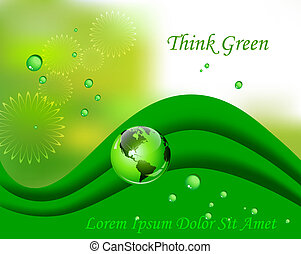Green organic background