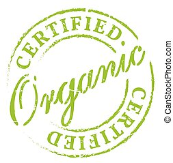 Green organic certified stamp