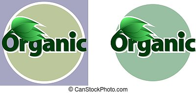 green organic food logo with leaves