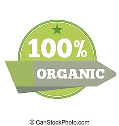 Green organic natural eco label