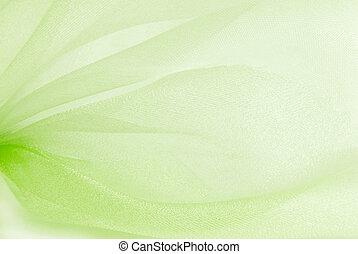 green organza fabric texture