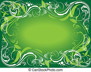 Green ornate background