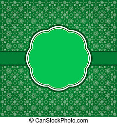 Green ornate frame with stars