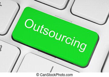 Green outsourcing button