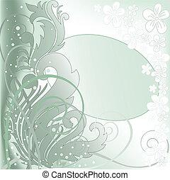 green oval frame