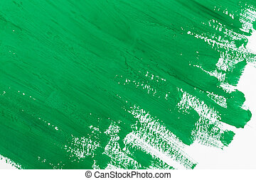 Green paint - abstract green paint brush strokes watercolor...