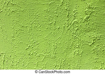 green paint on rough cement wall texture background